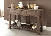 "Stone Brook Collection 466-SR6438 64"" Server with 3 Drawers Slatted Bottom Shelf and Inset Concrete Top in Rustic Saddle"