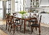 Thornton Collection 164-CD-7RLS 7-Piece Dining Room Set with Rectangular Table and 6 Side Chairs in Russet