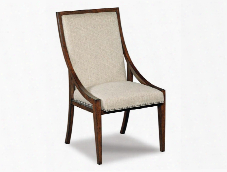 """300 Series 300-350120 41"""" Transitional-style Dining Room Upholstered Armless Chair With Nail Head Accents Wood Frame And Fabric Upholstery In Figured"""