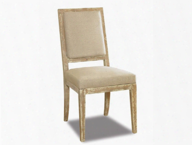 "Addison Series 200-36-064 40"" Casual-style Dining Room Side Chair With Tapered Legs Distressed Detailing And Fabric Upholstery In"