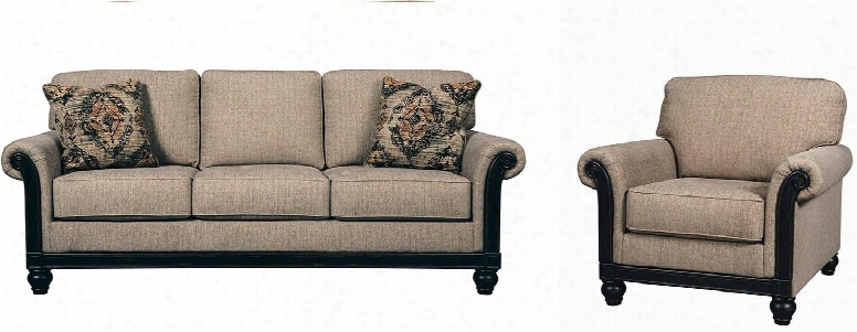 Blackwood 33503sc 2-piece Living Room Set With Sofa And Chair In Taupe