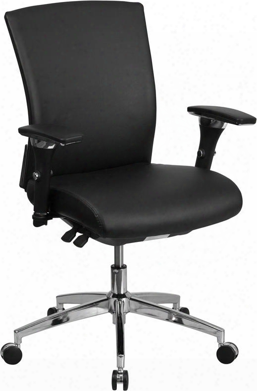 """Hercules Go-wy-85-7-gg 39"""" - 42"""" 24/7 Multi-functional Executive Swivel Chair With 300 Lb. Capacity Seat Slider Waterfall Seat And Pneumatic Seat Height"""
