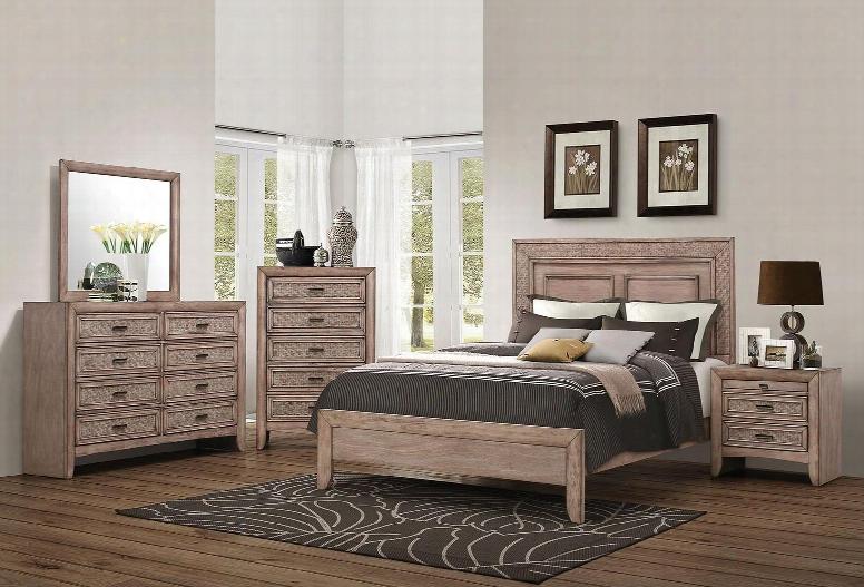 Ireton 26027ek5pc Bedroom Set With Eastern King Size Bed + Dresser + Mirror + Chest + Nightstand In Caramel