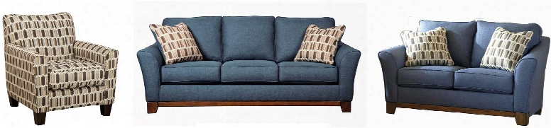Janley 43807slac 3-piece Living Room Set With Sofa Loveseat And Accent Chair In