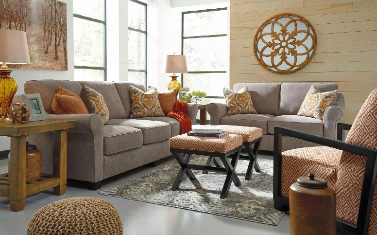 Leola 53601slac2o 5-piece Living Room Set With Sofa Loveseat Accent Chair And 2 Ottomans In