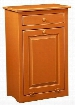 "465213BO 22"" Trash Bin with 1 Door 1 Drawer Simple Knobs and Premium Grade Pine Wood Construction in Burnt Orange"