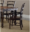 """Eastridge Series 5177-75300 39"""" Traditional-Style Dining Room Ladderback Arm Chair with Turned Legs Carved Detailing and Stretchers in"""