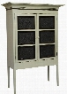 """Margies 4650160BA 49"""" Pie Safe with 2 Doors Simple Knobs Tapered Legs and Premium Grade Pine Wood Construction in Buttermilk and Asbury"""