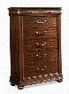 "Parkview 398-681CHEST 38"" Drawer Chest with Bun Feet Molding Details and Bourbon"