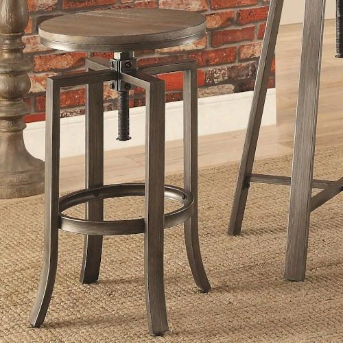 "10181 Collection 122101 15"" Industrial Bar Stool With Swivel Adjustable Height"