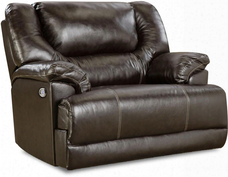"""Bingo 50451br-195 51"""" Cuddler Recliner With Split Back Cushion And Plush Padded Arms In"""