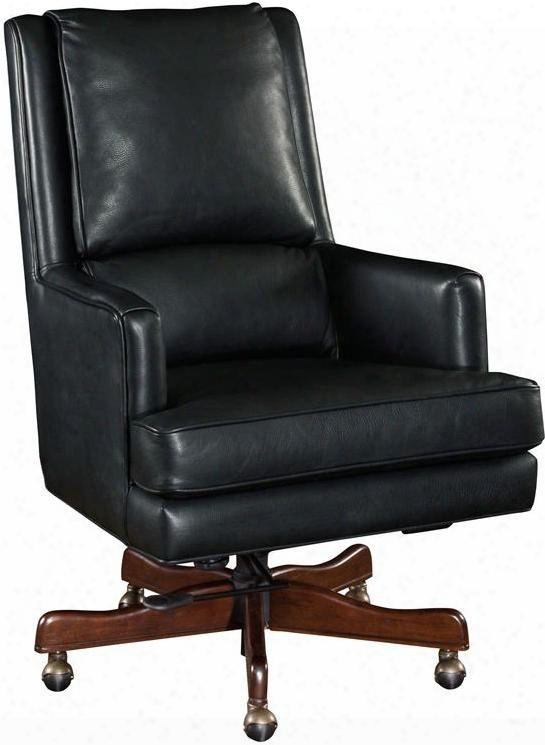 Carilion Series Ec387-099 45&qout; Traditional-style Tune Home Office Executive Swivel Tilt Chair With Adjustable Height Piped Stitching And Leather Upholstery In