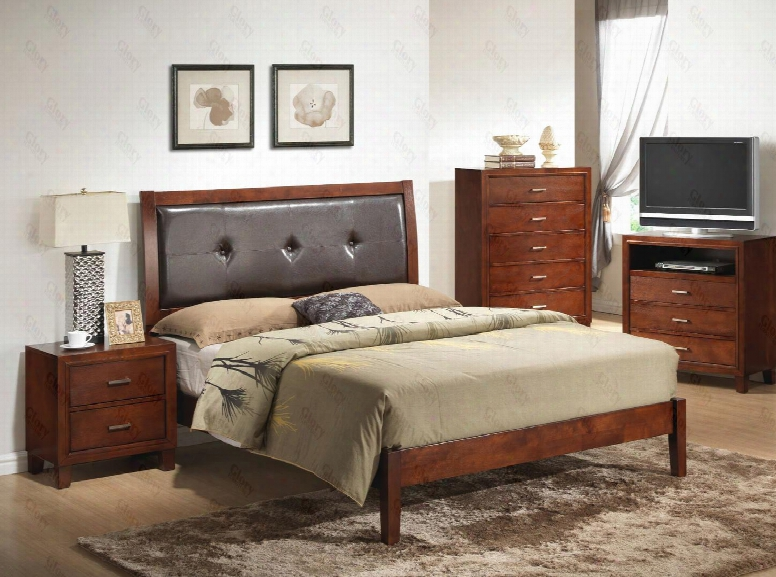 G1200aqbntv 3 Piece Set Including Queen Bed Nightstand And Meida Chest In