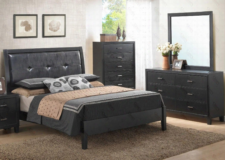 G1250afbdm 3 Piece Set Including Full Size Bed Dresser And Mirror In