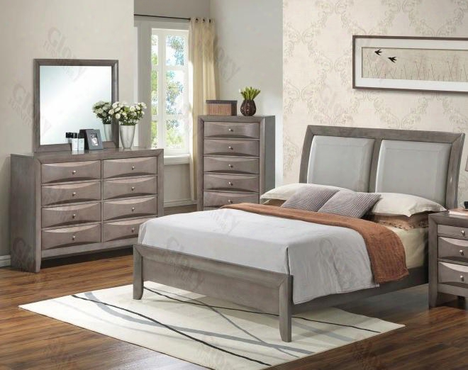 G1505atbdm 3 Piece Set Including Twin Size Bed Dresser And Mirro R In