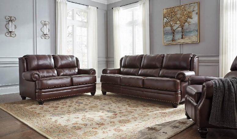 Glengary 31700slr 3-piece Living Room Set With Sofa Loveseat And Recliner In Chestnut