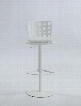 0825-AS-WHT Pneumatic Gas Lift Adjustable Height Swivel Stool -