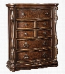 """Florentown Collection B715-46 44"""" 5-Drawer Chest with Felt-Lined Top Drawer Large Scale Ornaments and Ball-Bearing Side Glides in Dark"""