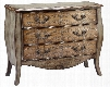 "Zahtila 12539 45"" 3-Chest with Metallic Silver Accents Distressed Details and Raised Scroll Pattern in"