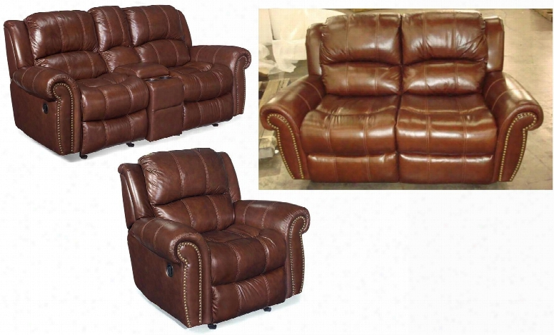 Ss601 3-piece Living Room Set With Manual Entertainment Sofa Loveseat And Glider Recliner Chair In