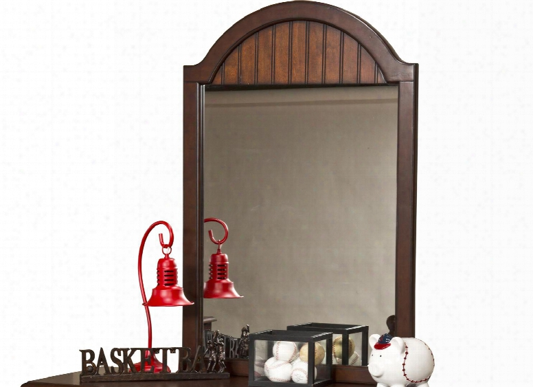 """1125-722 Westfield 30""""x44"""" Mirror With Arched Top And Molding Detail In Espresso"""