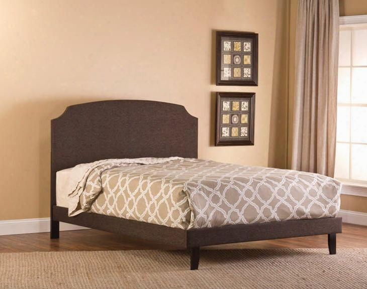 1296bqrl Lawler Queen Bed With Rails Wood Fabric And No Frills Headboard Design In Black And