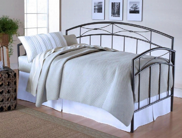1545dblh Morris Daybed With Straight Spindles Classic Silhouette Gentle Arches And Tubular Steel Construction In Sand Silver