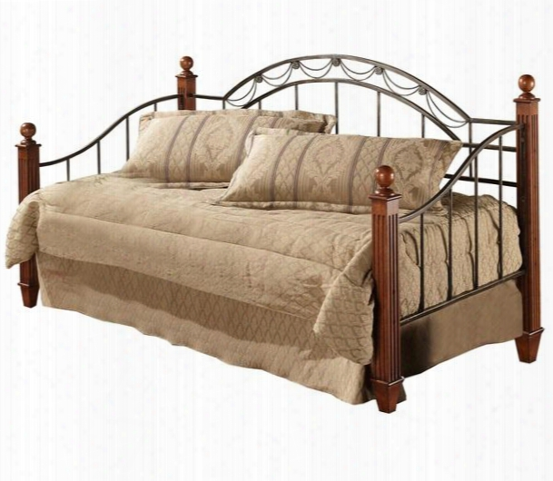 171dbwdlh Camelot Poster Daybed With Suspension Deck Draped Rope Wire And Decorative Castings In Black Gold And Cherry