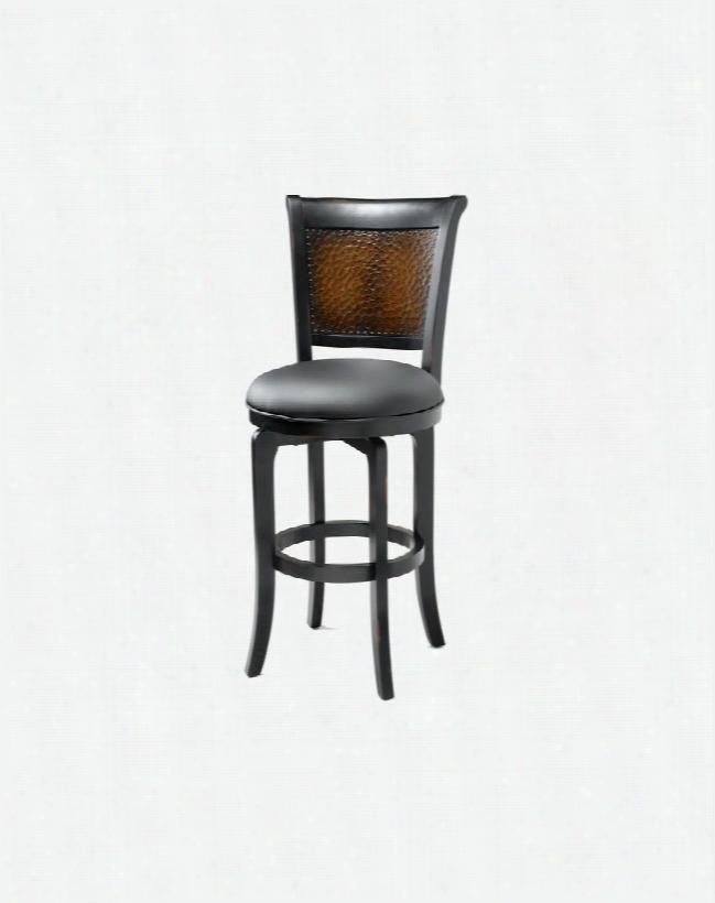 4930-826 Salerno Swivel Counter Stool Black With Honey