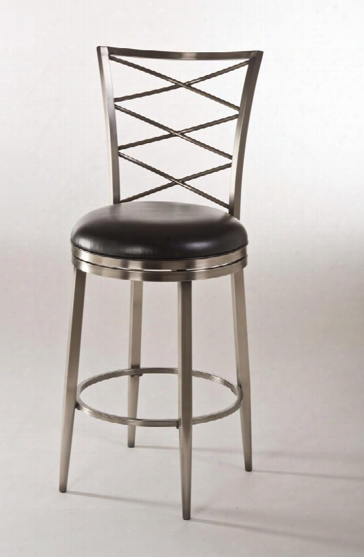 "5333-830  Harlow 48"" Vinyl Upholstered 360-degree Swivel Bar Stool With Metal Frame In Antique"