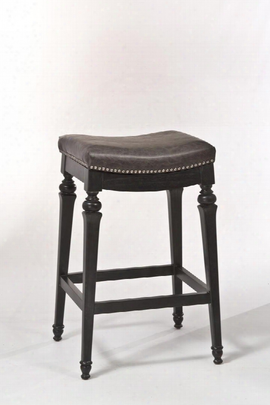 """5606-832 Vetrina 31"""" Faux Leather Upholstered Backless Non-swivel Counter Stool With Wood Frame In"""