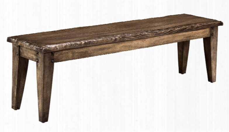 "5678-808 Lorient 61"" Bench With Sandblasted Edges Weathered Detailing And Mangifera Indica (mango Wood) Construction In Washed Charcoal Grey"
