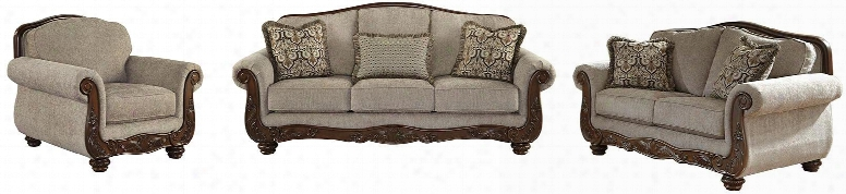 Cecilyn 57603-38-35-20 3-piece Living Room Set With Sofa Loveseat And Armchair In