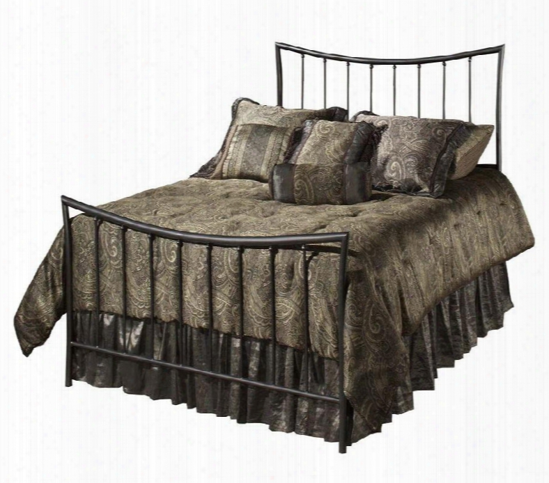 Edgewood 1333bkr King Sized Bed With Headboard Footboard Frame And Tubular Steel Construction In Magnesium Pewter