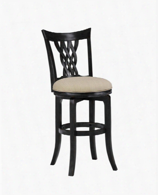 """Embassy 4808-832 47"""" Vinyl Upholstered Swivel Bar Stool With Wood Frame In Rubbed"""