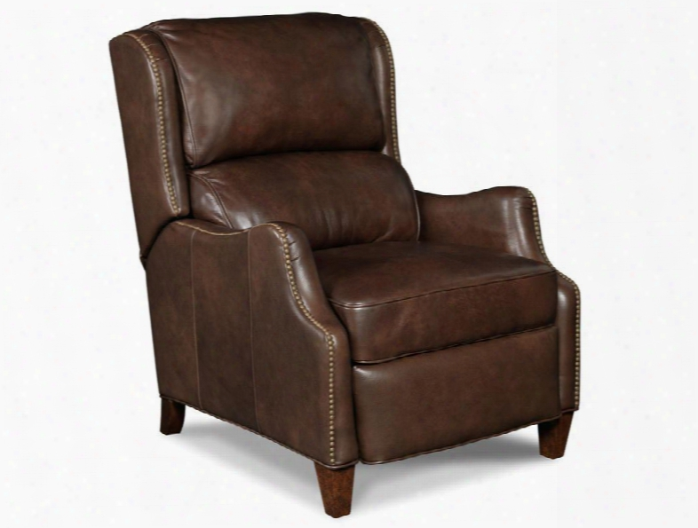 "Maximus Series Rc519-088 41"" Traditional-style Living Room Festival Recliner With Tapered Legs Split Back And Leather Upholstery In Cnocolate"