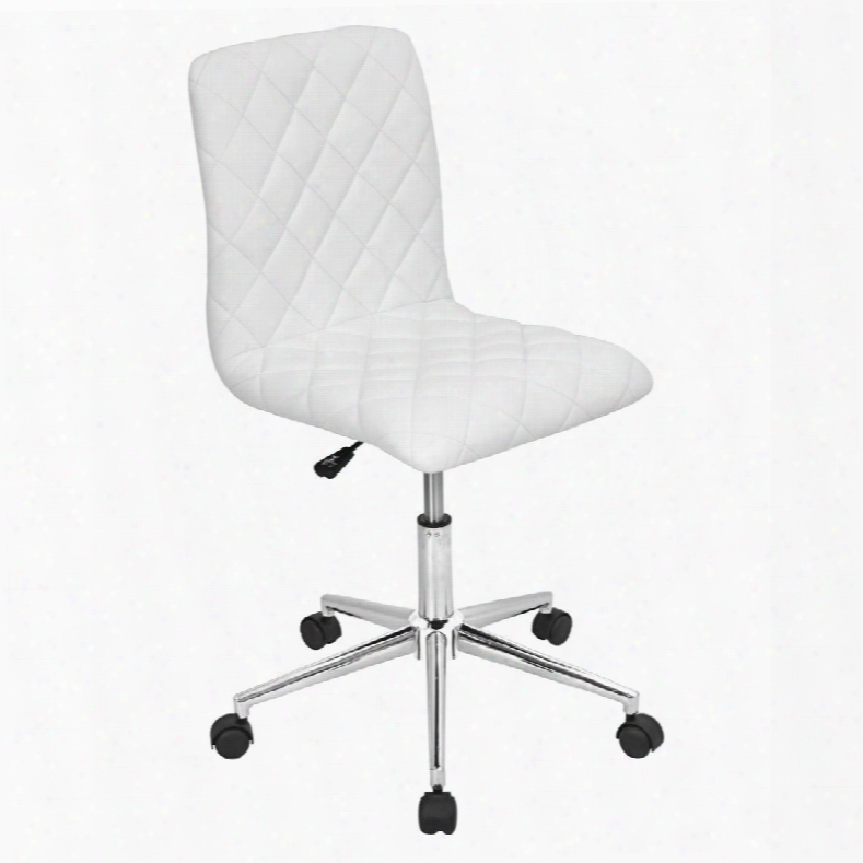Oc-tw-cav W Caviar Height Adjustable Contemporary Office Chair With Swivel In