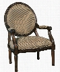 "Irwindale Collection 8840460 27"" Accent Chair with Fabric Upholstery Carved Detailing Padded Arms and Traditional Style in"
