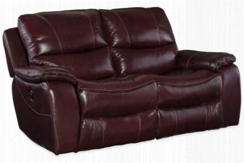 """Ss624 Series Ss624-p2-069 66"""" Traditional-style Living Room Power Motion Loveseat With 63"""" Full Recline Length 3"""" Distance From Wall To Recline And Leather"""