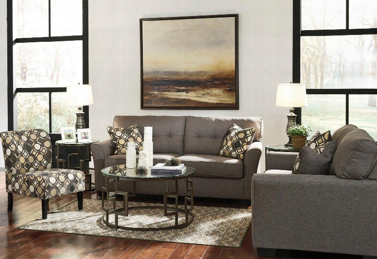 Tibbee 99101-38-35-60 3-piece Living Room Set With Sofa Loveseat And Accent Chair In