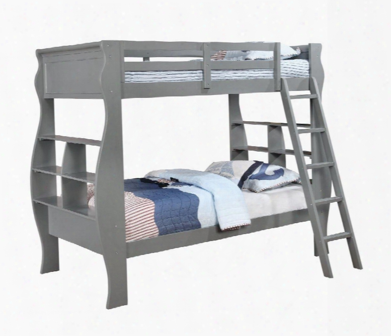 14y8100bbg Casey Twin Over Twin Grey Bunk