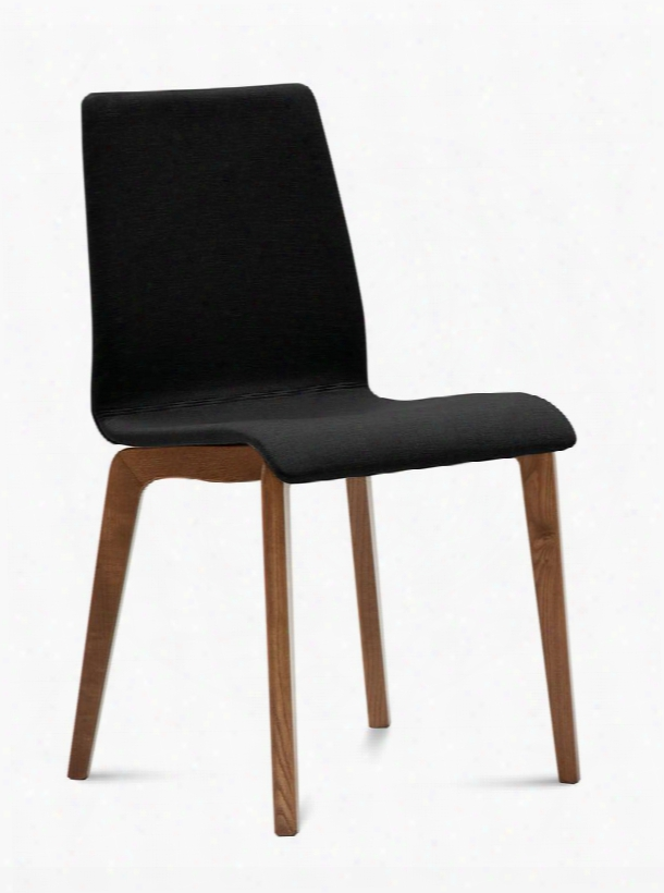Jude.s.lsf.nca.7jr Jude-l Chair With Walnut Frame And Skill Black
