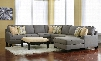 Chamberly 24302-08-17-34-77-46-55 2-Piece Living Room Set with 5PC Right Chaise Sectional and Accent