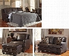 Corvan 69103QSSLCO 4-Piece Living Room Set with Queen Sofa Sleeper Loveseat Armchair and Ottoman in Antique