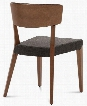 DIANA.S.0K0.NCS.8IW Diana Dining Chair with Walnut Ashwood Frame Tapered Legs and Brown Fabric