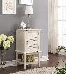 "Hilda 97142 16"" Square Floor Cabinet with Shutter Door Design Inside Shelf Botom Shelf Metal Hardware and Tapered Legs in White"