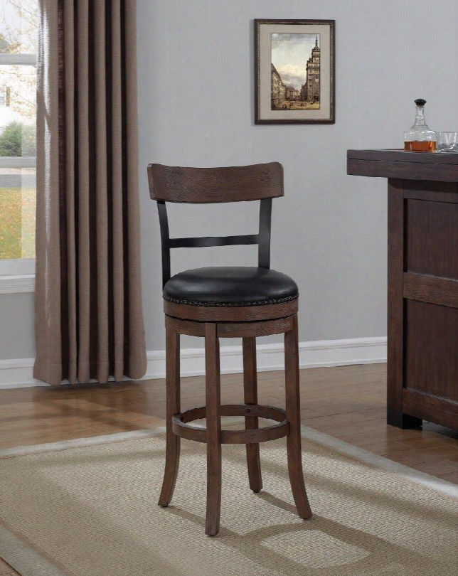 B2-208-26l Taranto Counter Stool In Washed Brown With Black Bonded