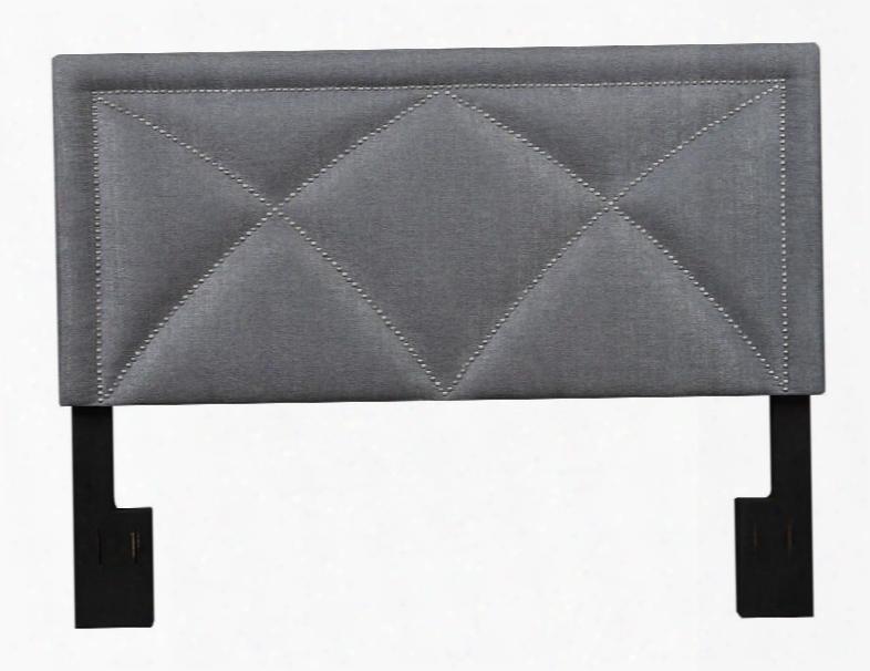 Ds-2533-270-422 King Upholsterg X-nailheadboard Tuxedo Slate In Grey