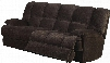 "Ahearn Collection 50475 88"" Motion Sofa with Pocket Coil Seating Wood and Metal Frame Motion Mechanism and Champion Fabric Upholstery in Chocolate"
