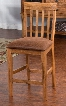 "Sedona Collection 1854RO-CT 41"" Slatback Barstool with Cushioned Seat Tapered Legs and Stretchers in Rustic Oak"